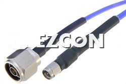 SMA Male to N Male RF Coaxial Test Cable Assembly