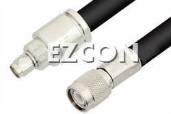 SMA Male to TNC Male RF Coaxial Test Cable Assembly