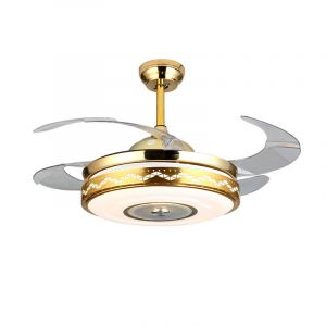 Smart Ai Voice Conrol Stealth LED Ceiling Fan Light