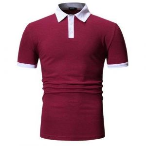 Maroon Color Summer New Design Your Own Style Custom Logo 100% Cotton Mens Polo Shirts