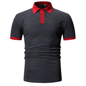 Dark Grey Color Summer New Design Your Own Style Custom Logo 100% Cotton Mens Polo Shirts