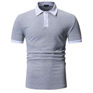 Light Grey Color Summer New Design Your Own Style Custom Logo 100% Cotton Mens Polo Shirts
