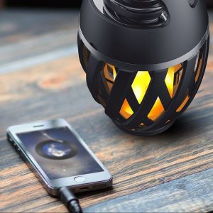 Torch Bluetooth Speaker Colorful Atmosphere Flame LED Light