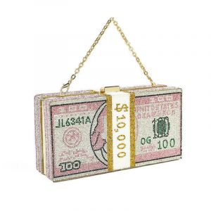 Us Dollar Money Bag Shiny Laser Women Chains Shoulder Bag Letter Embroidery Female Phone Bag Ladies Coin Wallet Purse