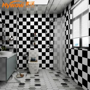 Waterproof Self Adhesive Floor Tile Functional Plastic Flooring Wallpaper for Bathroom