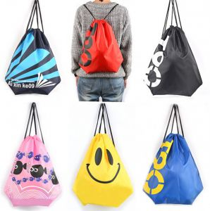 Wholesale Custom Clothing and Shoulders Drawstring Waterproof Beach Bag