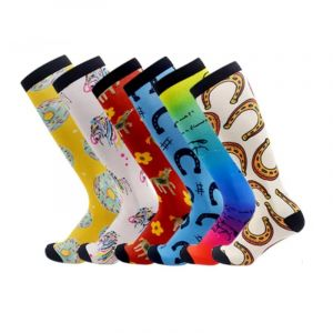 Wholesale Custom Logo 3D Printing 360 Womens Mens Terry Cotton Thigh High Equestrian Socks