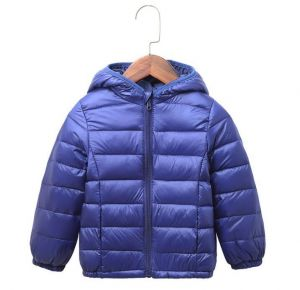 Navy Blue  Color  Winter Children′s Lightweight Down Jacket