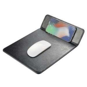 Wireless charger mouse pad stand