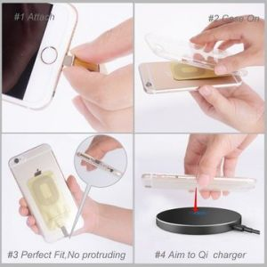 Qi Wireless Receiver, Used with Wireless Chargers/Compatible for All Android/Micro Port Cell Phone