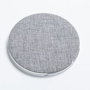 New Arrival Metal Fabric Qi Wireless Charger for Samsung Galaxy S6 / S6 Edge/Nexus/iPhone/HTC