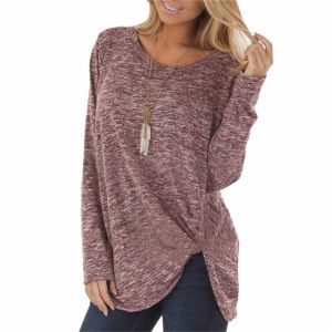 Women′s Batwing Sleeve Turtleneck Pullover Tunic Tops 2