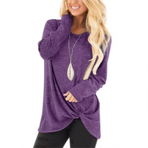 Women′s Batwing Sleeve Turtleneck Pullover Tunic Top