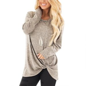 Women′s Batwing Sleeve Turtleneck Pullover Tunic Tops 1