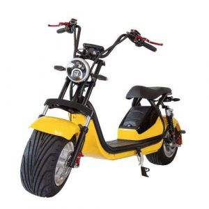 Yellow Harley Style Lithium - Battery Electric Motorcycle