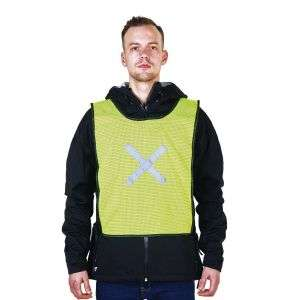 Yellow Mesh Fabric Safety Vest RM150-O