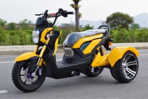 Zoom-X-Men Tricycle 72V Powerfull Electric Scooter Three-Wheeled High Quality Motorbike Euramerican Trend 1500W Speed Fast Bare Car Battery Car